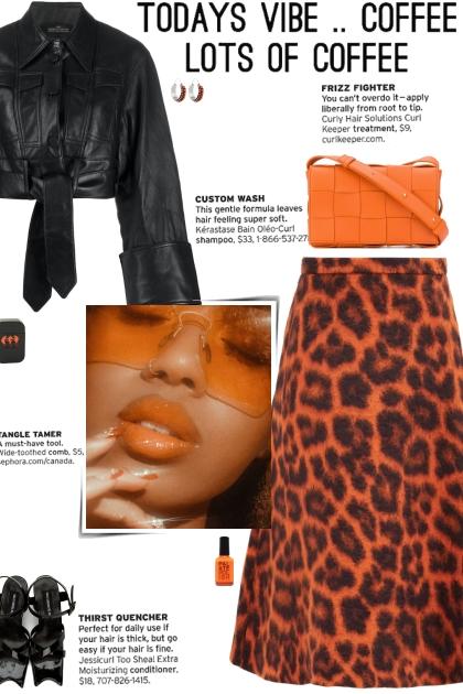 How to wear a Leopard Print Wool Midi Skirt!