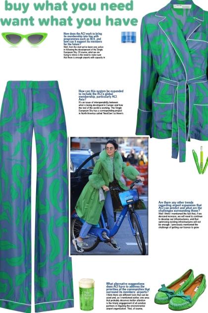 How to wear a Co-Ord Leaf Print Pajama Set!