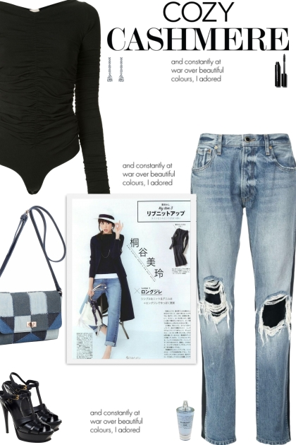 How to wear a Two-Toned Distressed Jeans!