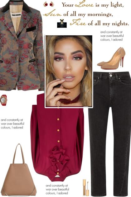 How to wear a Floral Brocade Wool Blazer!