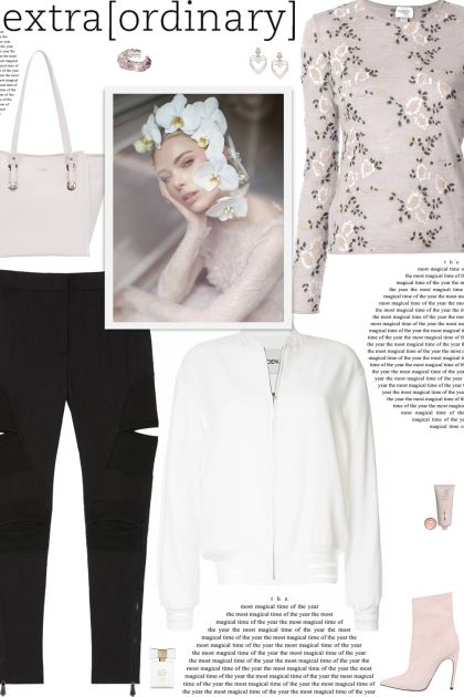 How to wear a Floral Embroider Cashmere Sweater!
