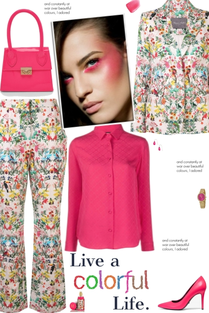 How to wear a Floral Printed Fitted Suit Set!