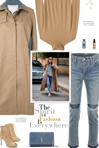 How to wear a Denim Panel Layered Trench Coat!