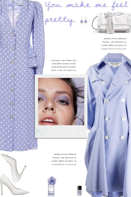 How to wear a Polka Dot Print Silk Midi Dress!