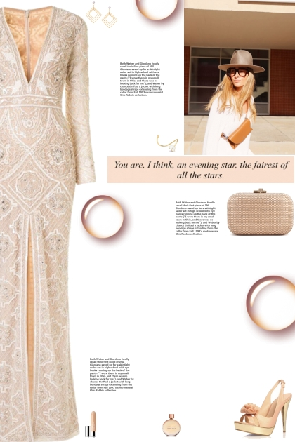 How to wear a Long Sleeve Embellished Gown!