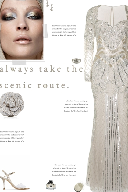How to wear a Sequin Embellished Long Sleeve Gown!- 搭配