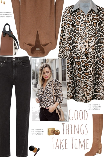 How to wear a Leopard Print Classic Collar Coat!