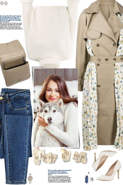 How to wear a Pleated Floral Detail Trench Coat!