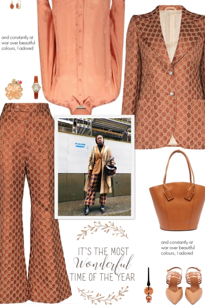 How to wear a Co-ord Jacquard Logo Print Suit Set!