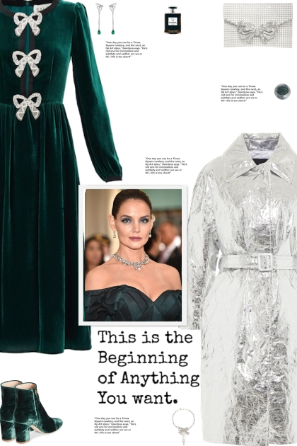 How to wear a Crystal-Bow Velvet Midi Dress!- Kreacja