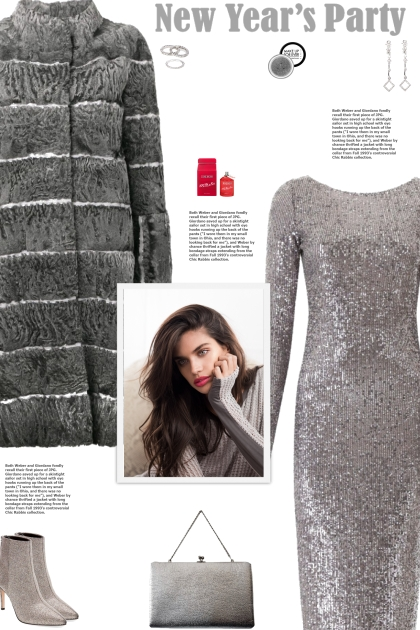 How to wear a Silver-Tone Sequin Midi Dress!
