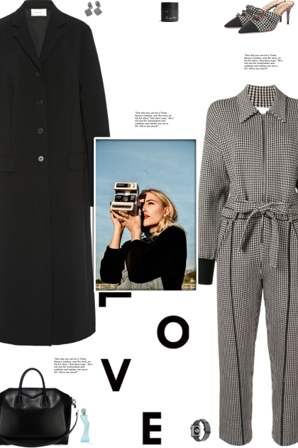 How to wear a Houndstooth Tied Waist Jumpsuits!
