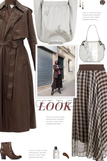How to wear a Checked Print High Waist Midi Skirt!