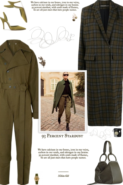 How to wear a Check Pattern Notched Collar Coat!