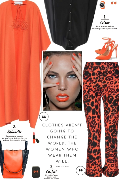 How to wear an Animal Print Mid Rise Trousers!