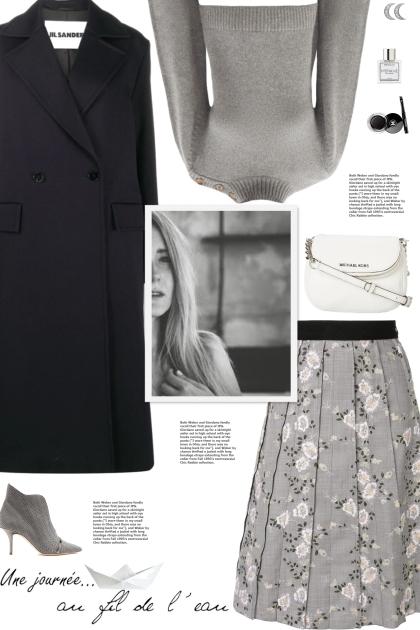 How to wear a Floral Embroider Knee Length Skirt!- Modna kombinacija