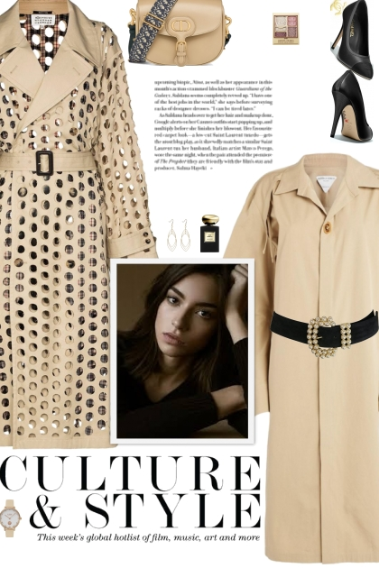How to wear a Hole-Punched Trench Coat!