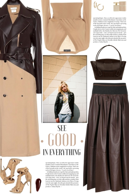 How to wear a Two-Toned Leather-Wool Trench Coat!