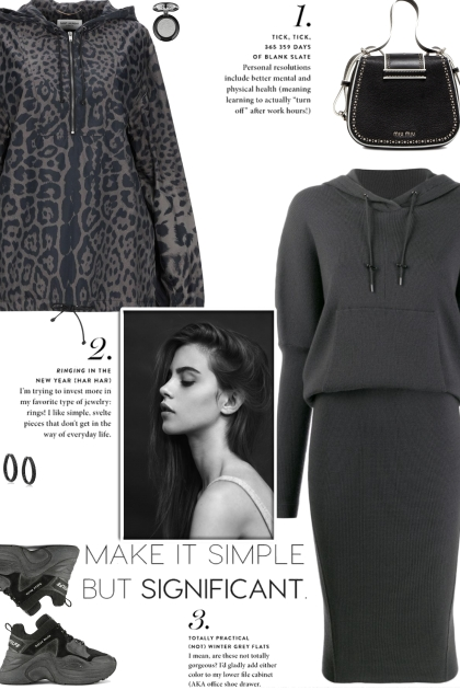 How to wear a Hooded Knitted Jumper Dress!- Fashion set