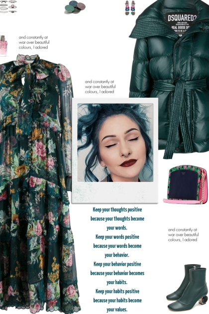 How to wear a Floral Print Tiered Ruffle Dress!