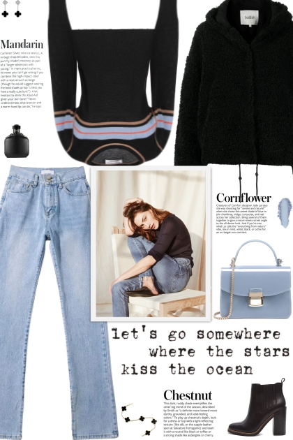 How to wear a Striped Round Collar Sweater!