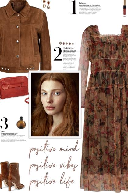 How to wear a Sheer Sleeves Floral Dress!- Modna kombinacija