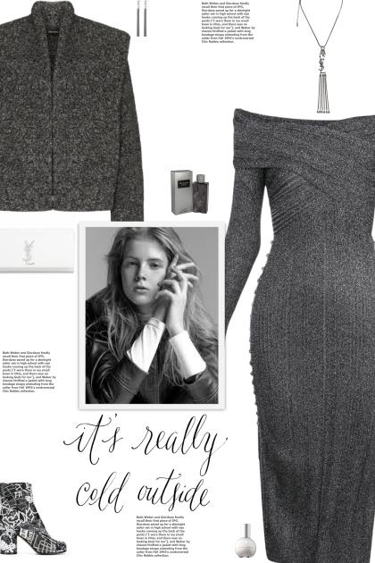 How to wear an Off-Shoulder Metallic Knit Dress!