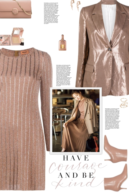 How to wear a Metallic Knit Striped Mini Dress!
