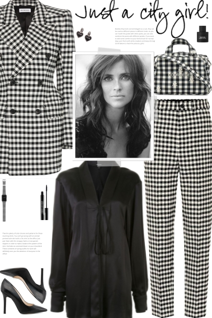 How to wear a Co-Ord Checked Wool Suit Set!