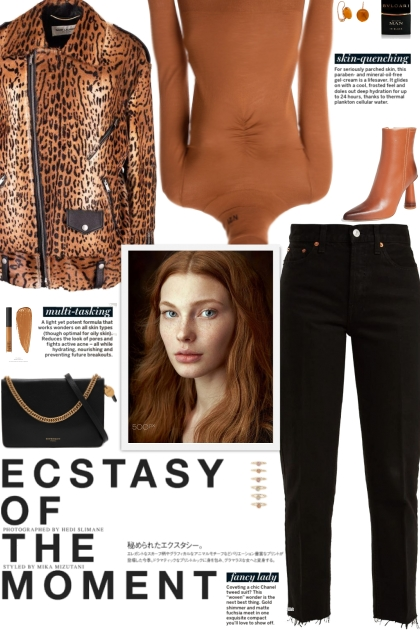 How to wear an Animal Print Faux Leather Jacket!