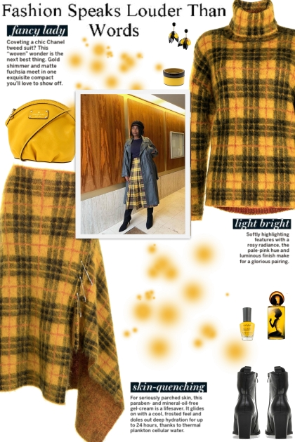 How to wear a Co-Ord Tartan Mohair Skirt Set!