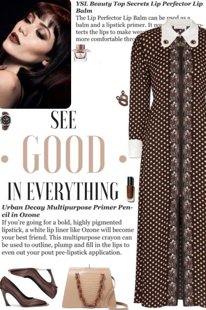 How to wear a Long Sleeve Polka Dot Dress!