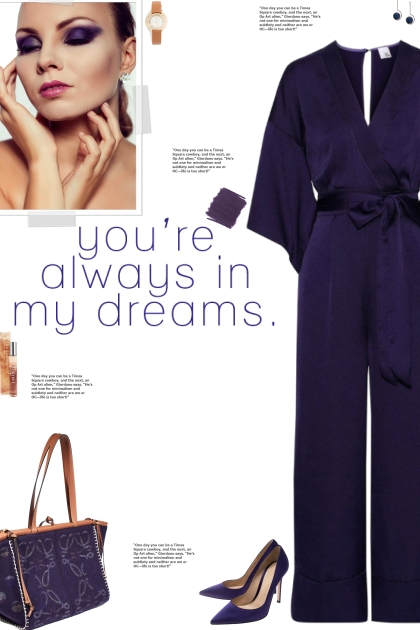How to wear a 3/4 Sleeve Satin Jumpsuit!