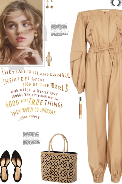 How to wear an Off-Shoulder Long Sleeve Jumpsuit!