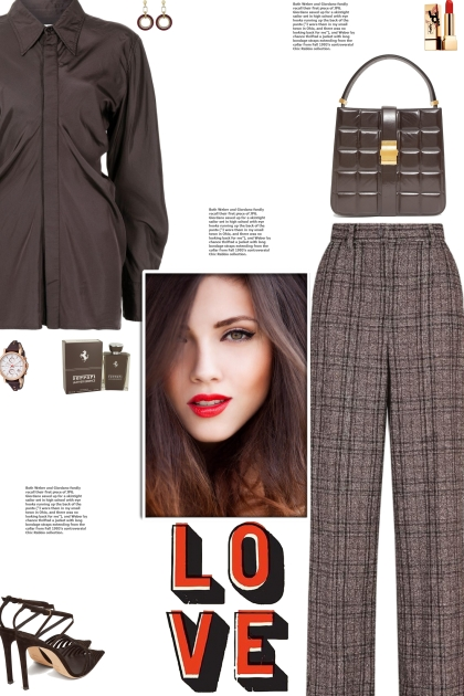 How to wear Check-Pattern Cotton-Blend Trousers!