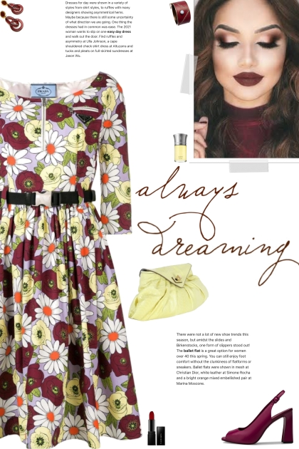 How to wear a Floral Cotton Print A-Line Dress!