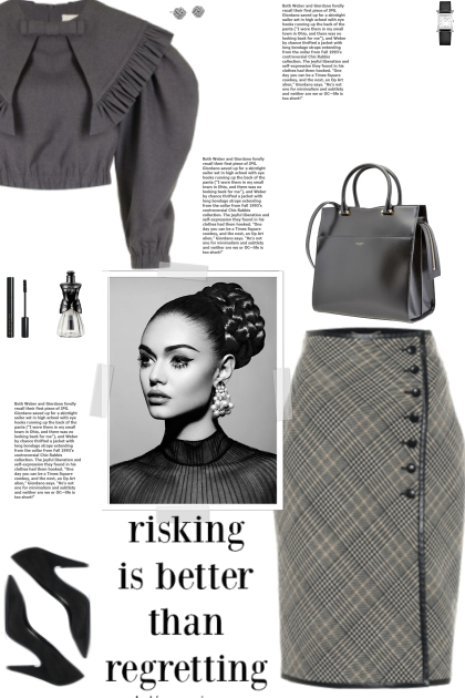 How to wear a Checked Virgin Wool Pencil Skirt!