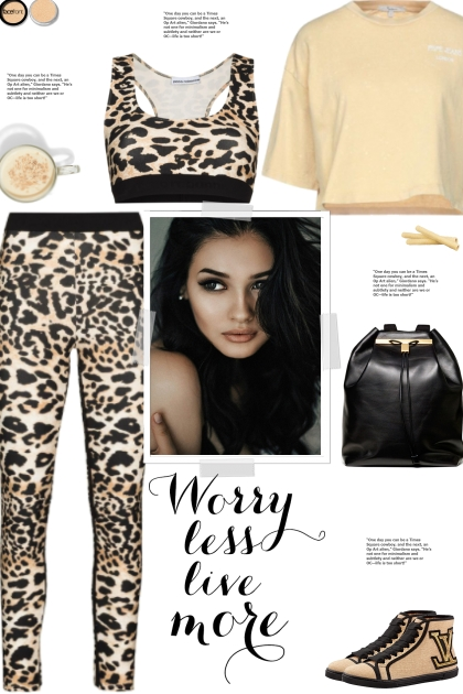 How to wear a Co-Ord Animal Print Activewear Set!