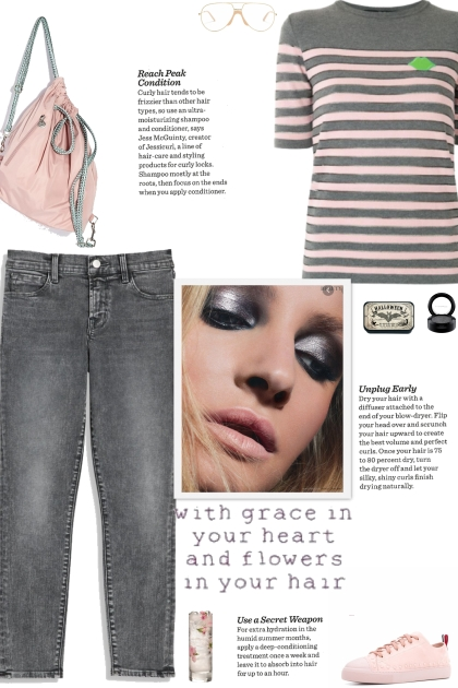 How to wear a Pinstriped Round Neck Top!