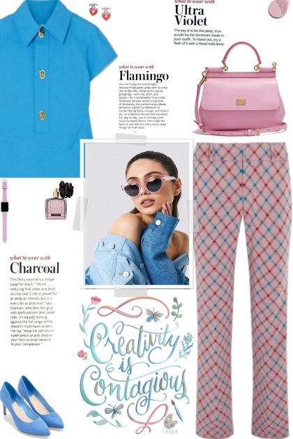 How to wear Geometric Print Straight Leg Trousers!- Fashion set