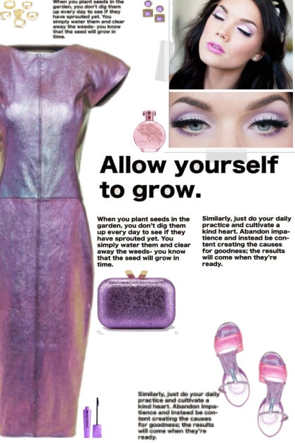 How to wear a Iridescent Faux Leather Dress!