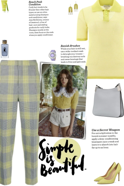 How to wear Crop Check Pattern Tapered Trousers!