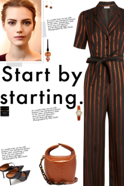 How tow ear a Striped Tailored Jumpsuit!