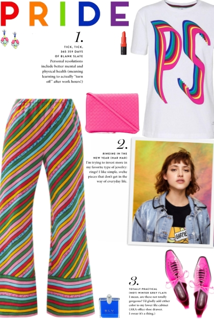 How to wear a Rainbow Pattern Linen Trousers!