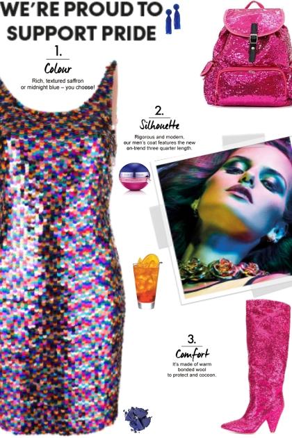 How to wear a Rainbow Sequin Mini Dress!