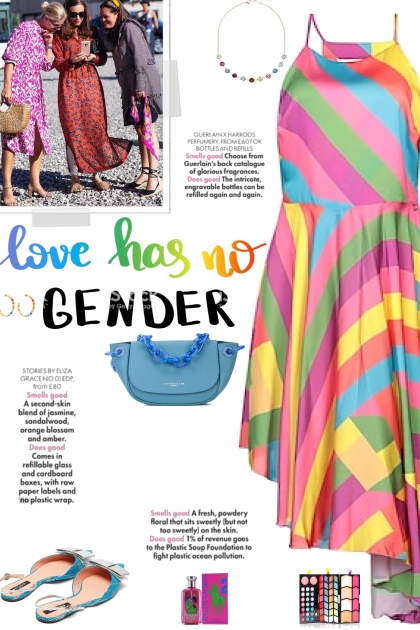 How to wear a Rainbow Print High Low Dress!