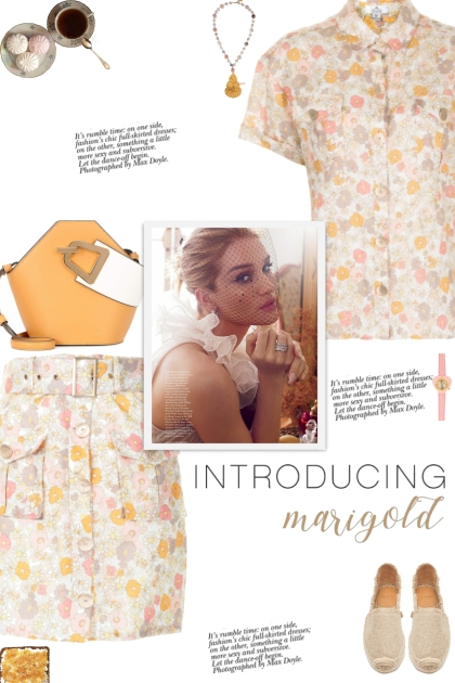 How to wear a Co-Ord Daisy Print Skirt Set!
