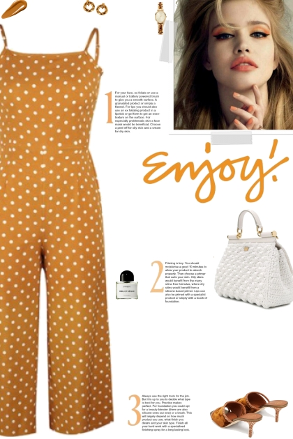 How to wear a Polka Dot Sleeveless Jumpsuit!