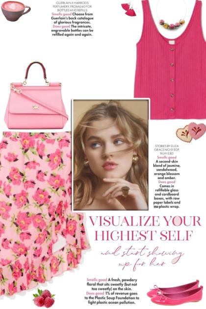 How to wear a Floral Asymmetric Ruffle Skirt!