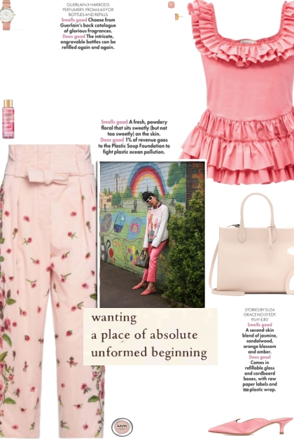 How to wear a Floral Sash High-Waisted Trousers!